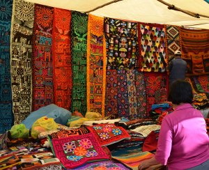 Textile colors at the Pisac market are amazing.
