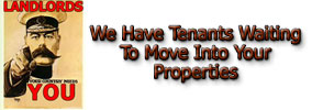 we have tenants waiting to move into your rental properties