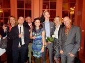 Familie Lohse und Güntner mit ihren Diplomanden
