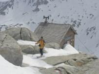 Klaus beim Aufstieg bei der Rojacherhütte