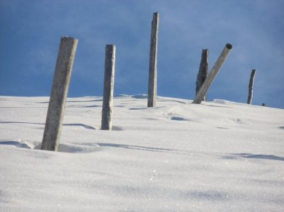 Wenig Schnee am Trattberg