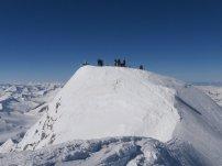 Premiere: der Gipfel war mit Schi erreichbar