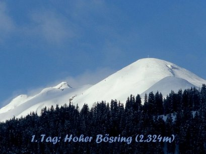 """Der Hohe Bösring (2.324m) war das Ziel der """"Eingehtour"""" am Anreisetag"""