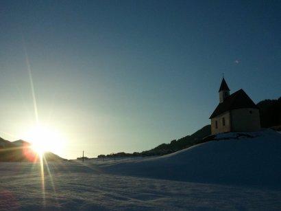 Im Zuge eine Langlaufrunde entstand dieses Sonnenuntergangsfoto bei Obertilliach