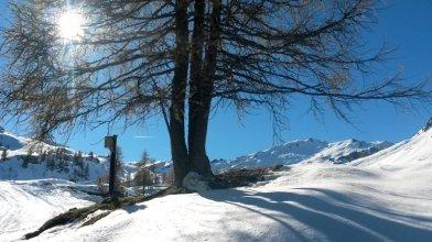 Erster Blick in den oberen Kessel des Schigebiets Zauchensee