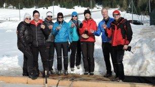 Eistockschießen im Biathlonzentrum in Obertilliach