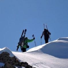 Am Gipfelgrat zum Hinterbergkofel