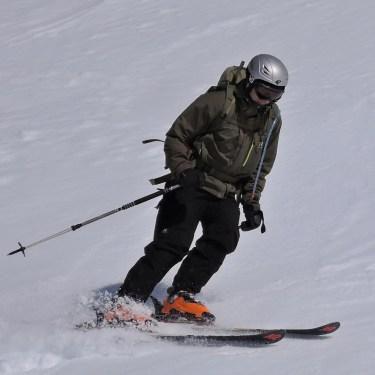 Tim meistert die steile Westflanke des Hinterbergkofels bravourös