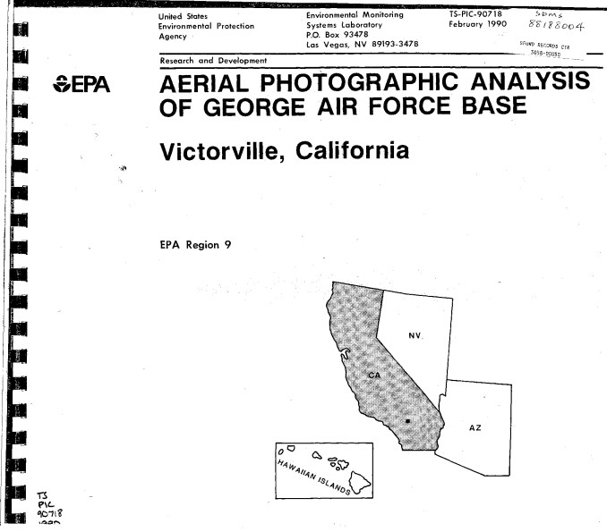 Aerial Photographic Analysis of George Air Force Base