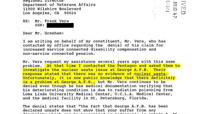 Air Force Lied to Rep Brown about radioactive waste at George AFB