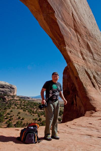 Bob at Wilson Arch