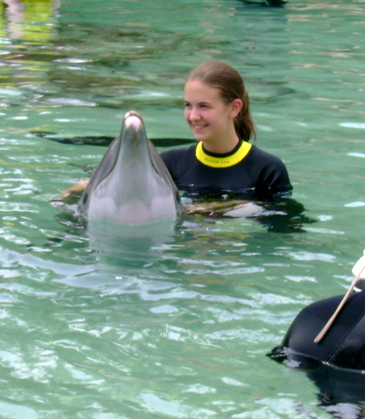 tess and dolphin