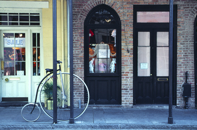 bike on Bourbon Street