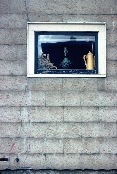 window on Corn St.