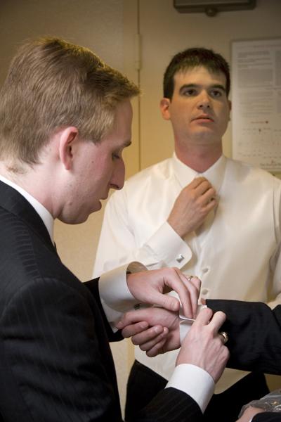 groom in room