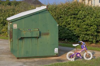 bike and dumpster