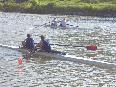 rowing on the inlet