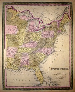 Maps  Set  United States and Continents  Mitchell s New Universal     Map of United States of America