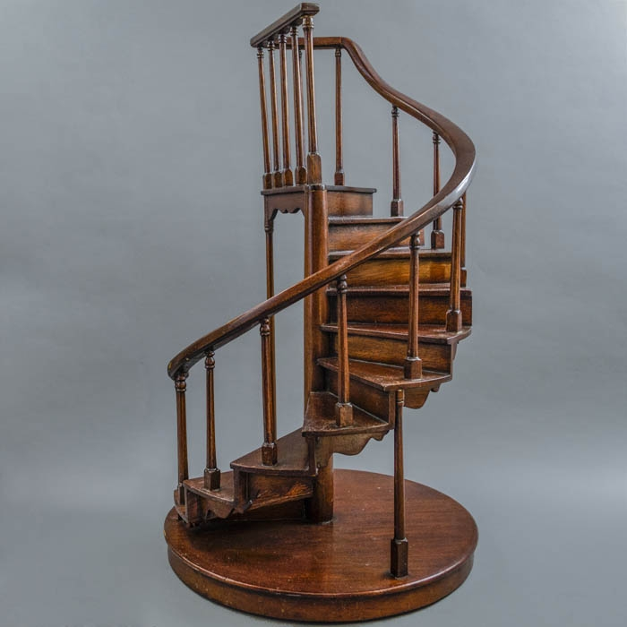 Decorative Arts Staircase Miniature Models Various Styles | Spiral Staircase Wooden Steps | Tiny House | Wrought Iron | Rustic | Creative | 2 Story