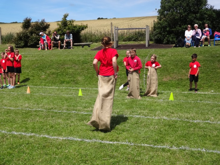An old favourite...the sack race