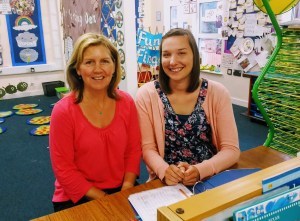 Mrs Karen Ivall (l) and Miss Emily Smale (r)