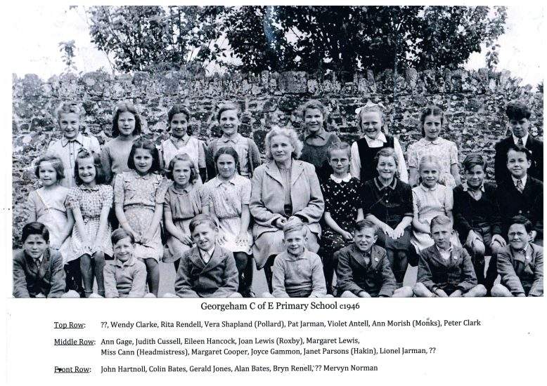 Miss Cann's (Headmistress) class of 1946
