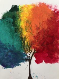 Kitty_acrylic_rainbow_tree
