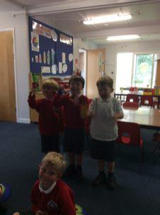 We used handbells to play 'Twinkle Twinkle'