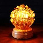 Amber Glass Globe Table Lamp George Juniper Co