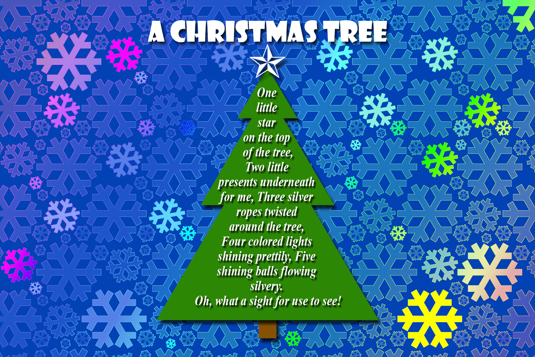 Project - PSE Christmas Tree Poem Card