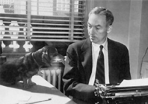 E. B. White & friend