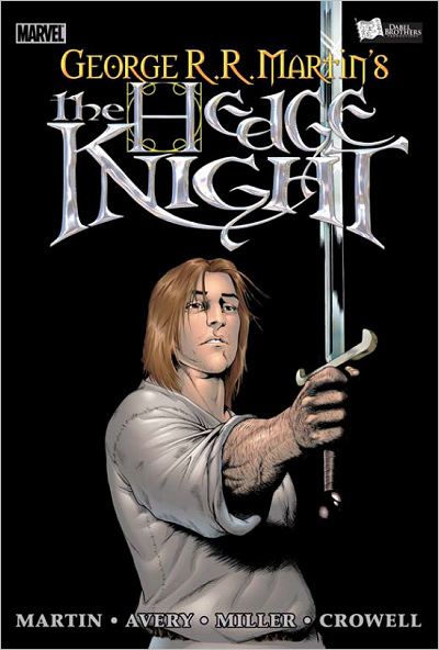Capa da edição em capa dura de The Hedge Knight