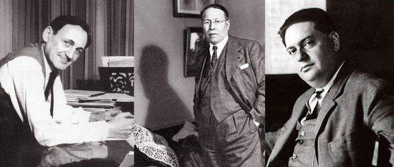 Alfred Desenclos, Henri Büsser et Darius Milhaud.