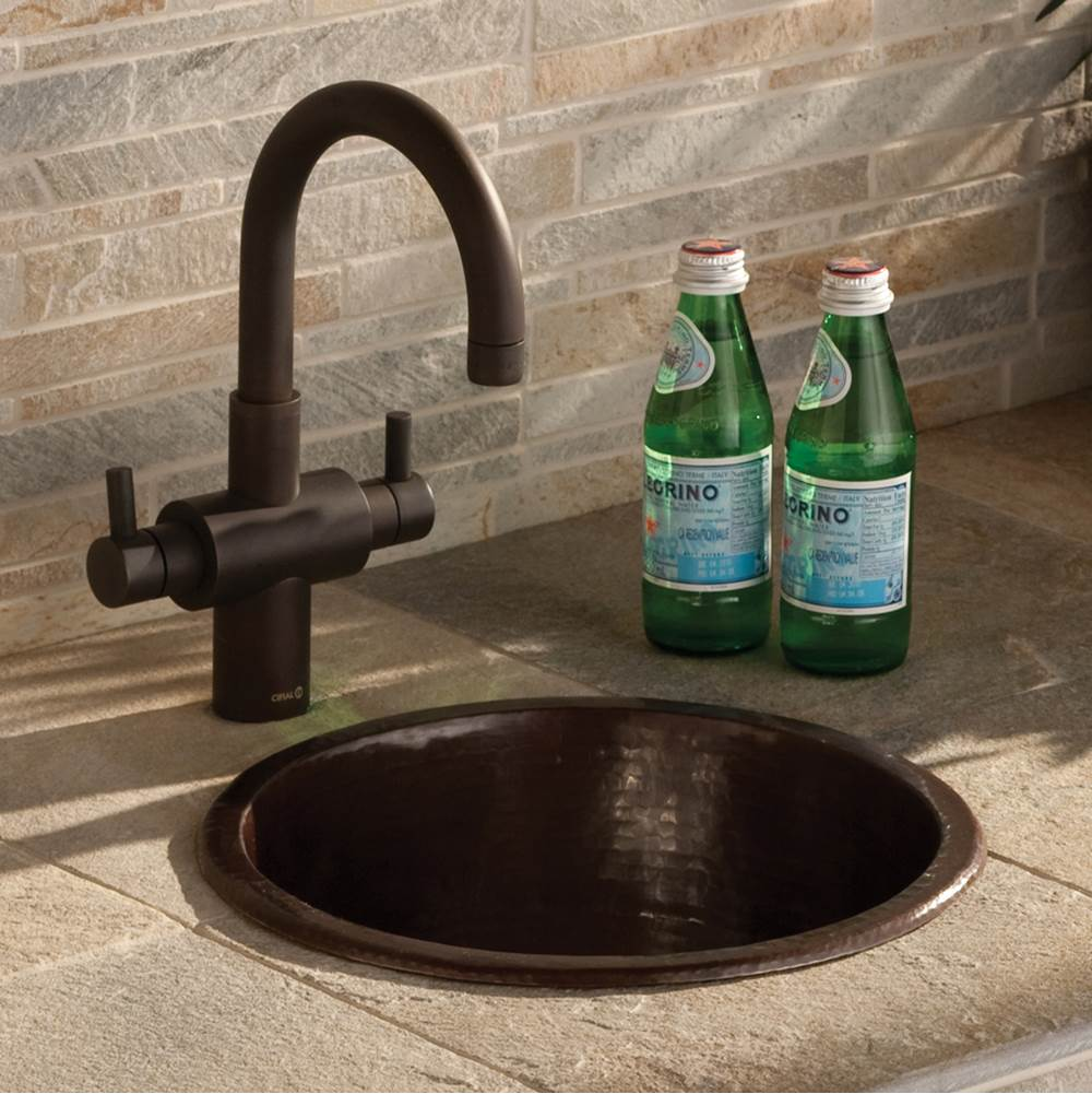 diego bar and prep sink in antique copper