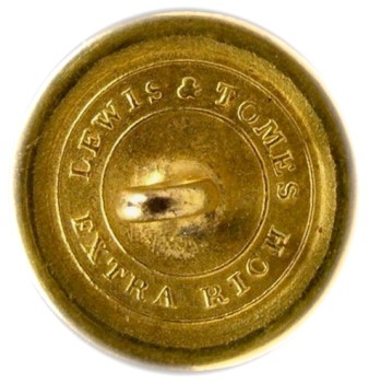 1820-30's Navy 22.6mm Gilded Brass NA 86-A.3 RJ Silverstein's georgewashingtoninauguralbuttons.com R