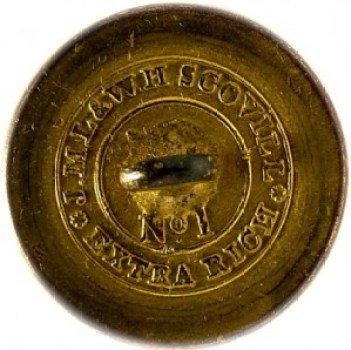 1820-30's Navy 22.6mm Gilded Brass NA 86-Unlisted RJ Silverstein's georgewashingtoninauguralbuttons.com O
