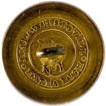 1820-30's Navy 22.6mm Gilded Brass NA 86-Unlisted RJ Silverstein's georgewashingtoninauguralbuttons.com O