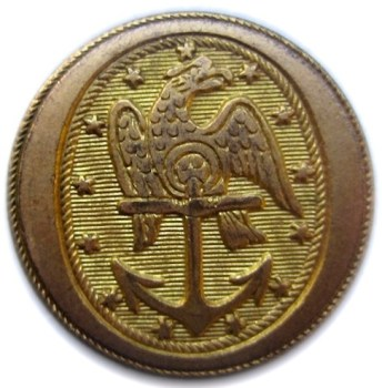 1830's Navy 23mm Gilded Brass rj silverstein's georgewashingtoninauguralbuttons.com R-23
