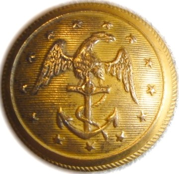 1835-50 Navy 22mm low convex Gild Brass Alberts NA106 Tices NA212A.13 Ebay $0000 9-13-12 georgewashingtoninauguralbuttons.com o