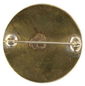WI 4-A 34.5MM BRASS PIN BACK REPLACEMENT A-37R