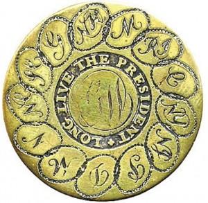 WI 4-A BRASS 34MM R.J Silversteins georgewashingtonsinauguralbuttons.com 4- A 13