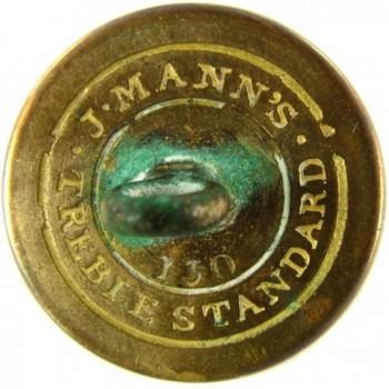 1808-21 Artillery 21.2mm Gilt Brass Alberts AY 52-B Unlist. Die RJ Silverstein's georgewashingtoninauguralbuttons.com R