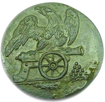 1811-13 Reg. of Artillerist 20mm Alberts AY34B georgewashingtoninauguralbuttons.com O
