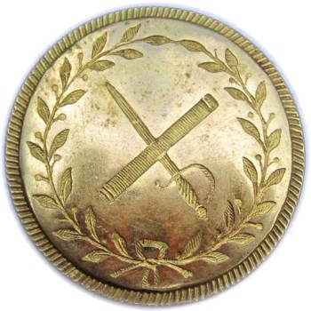1812 British Generals Button 24.53mm Orig Shank Georgewashingtoninauguralbuttons.com O