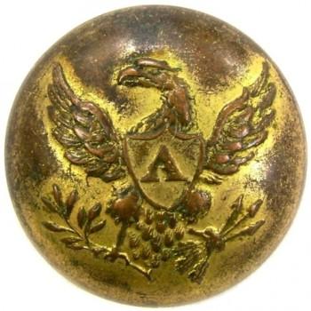 Artillery 19.1mm Gild brass RJ Silverstein's georgewashingtoninauguralbuttons.com r