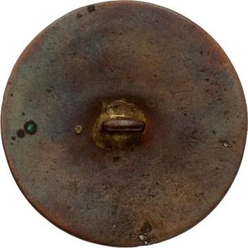 GWI 11-A 34mm Copper Cleaned Orig shank HA Auctions April 2015 Georgewashingtoninauguralbuttons.com R