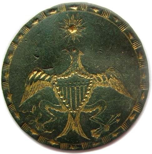 GWI 24-A The Federal Eagle W Scottish Jewel Legend Indentees rj silverstein's georgewashingtoninauguralbuttons.com O