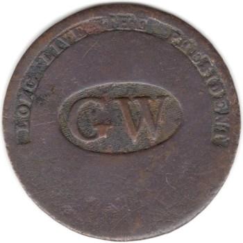 WI 11-B 34mm Brass RJ Silverstein Georgewashingtoninauguralbuttons.com ebay $1k R