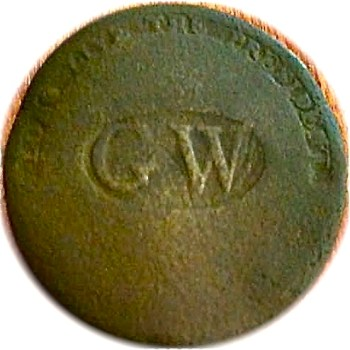 WI 11-C BRASS 34MM rj silverstein's georgewashingtoninauguralbuttons.com C-11 r