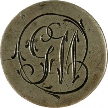WI 20-SUB. VARIETY BRASS 19MM rj silversteins george washington inaugural buttons IIA-4